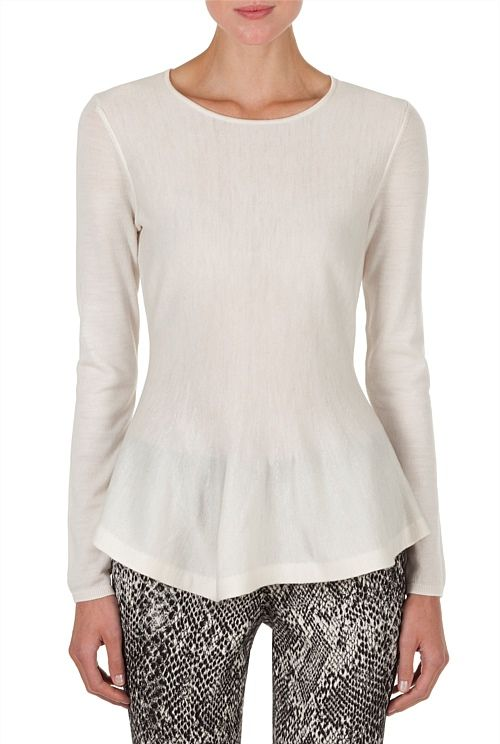 Country Road Merino Peplum Knit AU$99