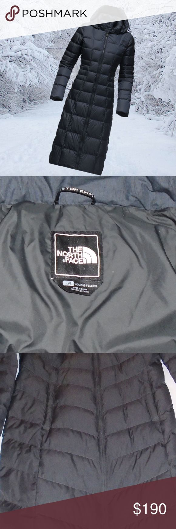 North Face Triple C II Women's Parka L/G Barely worn - I'm selling this because I have arthritis and due to this the zipper is difficult for me - I needed to find a 40 year old who had no problem - kind of funny but a bit embarrassing. What a great Parka - It's a shame it doesn't have snaps. 550 Fill Goose Down - the color is a dark grayish blue The North Face Jackets & Coats Puffers