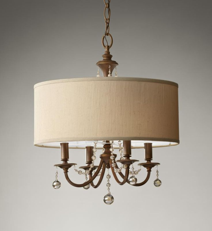 City Lights in SAN FRANCISCO, California, United States, Murray Feiss JLCR, Four Light Gold Drum Shade Chandelier, Clarissa, Firenze Gold - Gold - Shade - Burnt Copper On Stryene Hardback