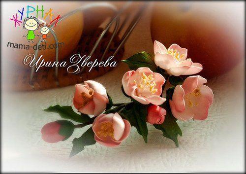 Цветы яблони или яблоневый цвет своими руками из фоамирана | Цветы из фоамирана