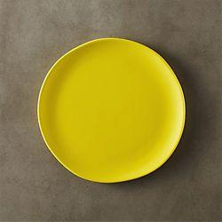 crisp matte chartruese yellow salad plate