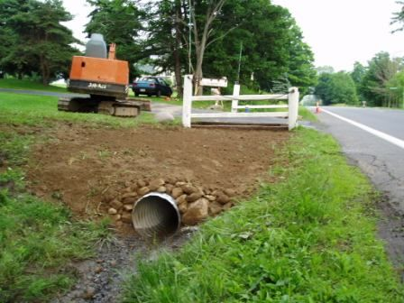 Driveway Culvert Fence