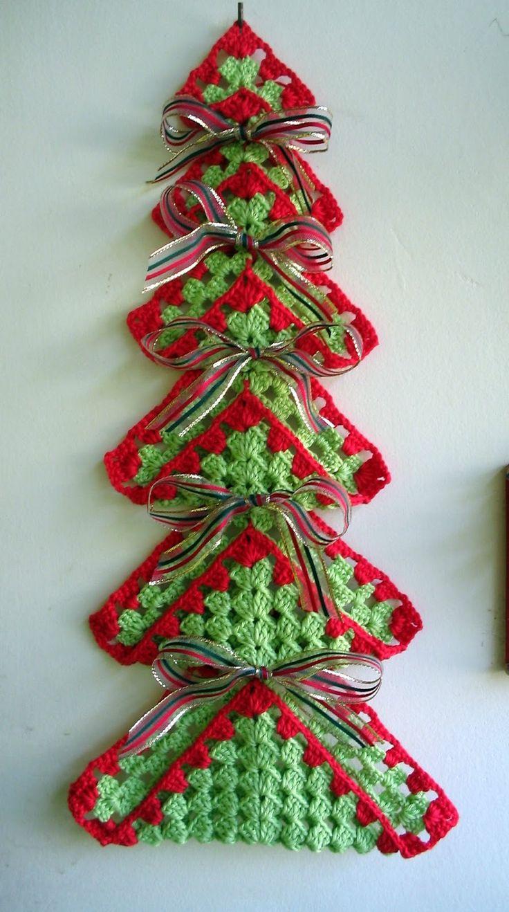 Passatempos da Dorinha / Dorinha's pastimes: Mini árvore de Natal em crochê