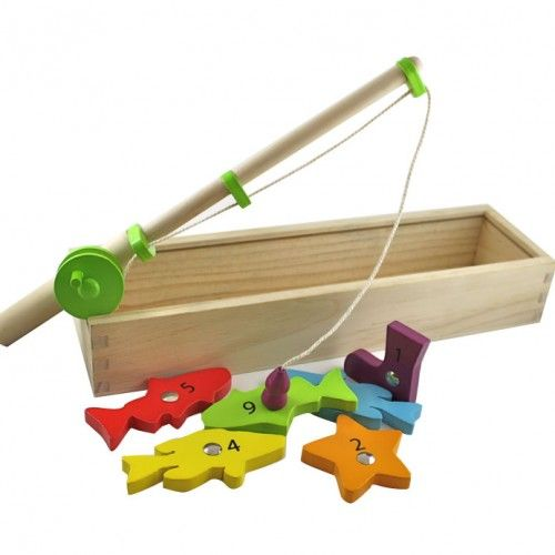 Discoveroo Magnetic Fishing Game is a fantastic way for your little one's to gain fine motor skills without needing batteries. Its beautifully made from plantation wood and will delight your children for hours..:)