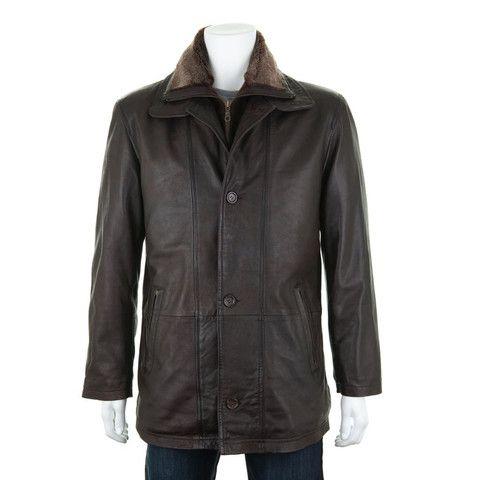 Woodland Leather Vintage Mahogany Fur Lined Coat
