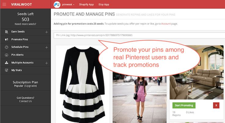 I use @Viralwoot .com  to promote and manage my #Pinterest account. Features like pin alert and pin scheduler are amazing!  http://snip.ly/ZTr