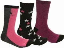 Converse černo-růžové ponožky 3 Pack