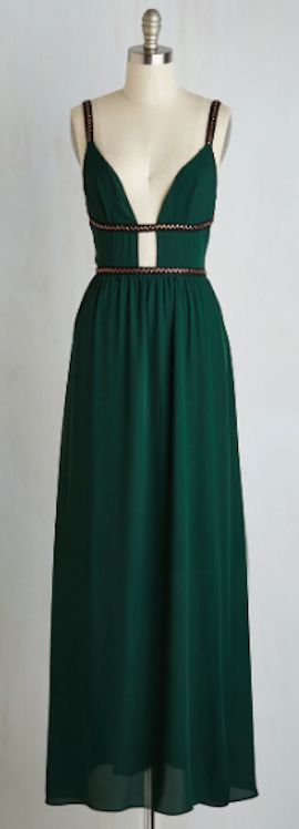 stunning emerald green maxi dress