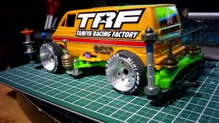 Van TRF Orange | Mini 4WD Tamiya Marukai Pacific Market Gardena / Los Angeles Beautiful Southern California USA 310-464-8888