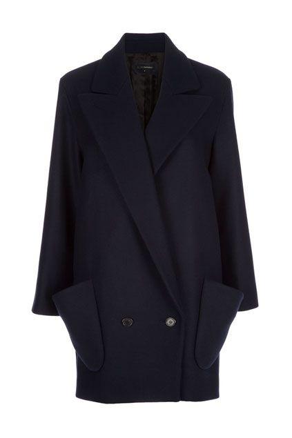 oversized navy coat