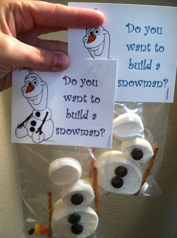 Olaf Goodie/Activity Bag by DropOfAwesome on Etsy, $10.00. I could make these my self!