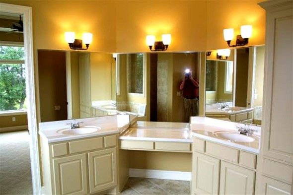 17 best images about shared bath with double sinks and for Jack and jill bathroom vanity