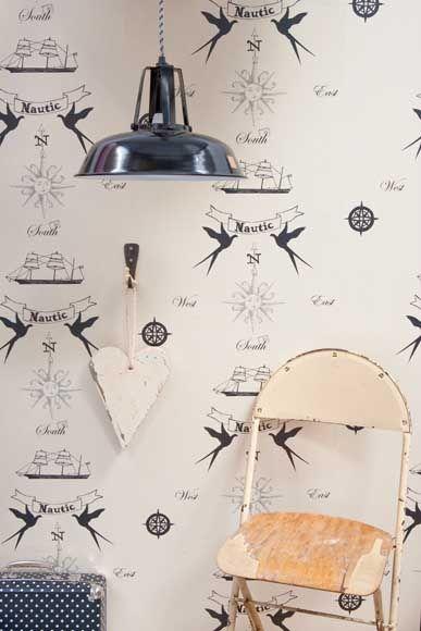 wallpaper nautic - nautisch behang