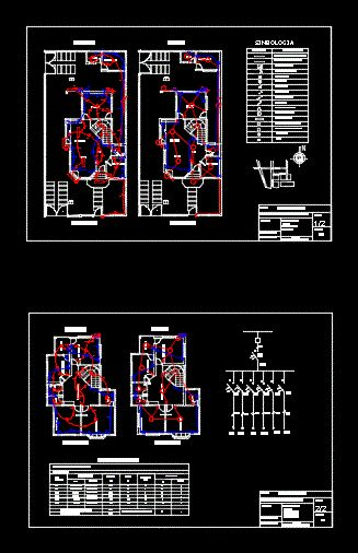 Home electrical installation project (dwgAutocad drawing)