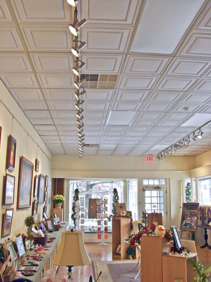 vinyl ceiling tiles menards lowes restaurant kitchen best drop ideas basement options