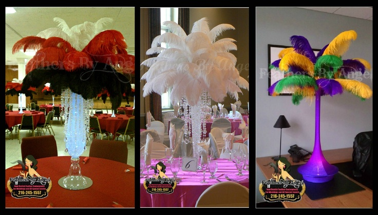 Feather centerpiece wedding ideas pinterest