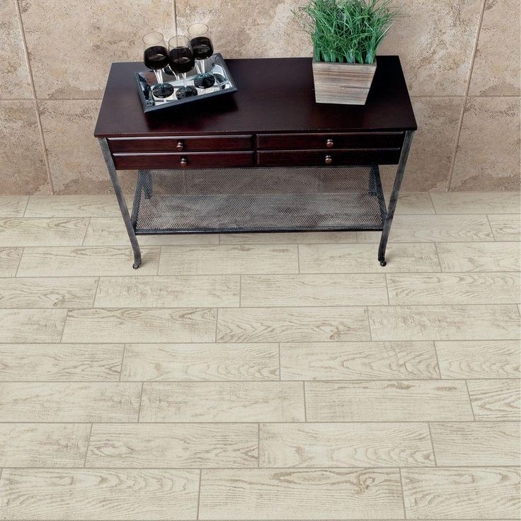 Montagna white wash 6 in x 24 in glazed porcelain floor and wall tile