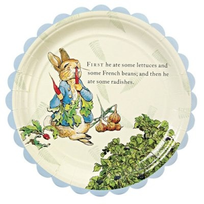 "Peter Rabbit Party 9"" party plates  SO CUTE!!!"
