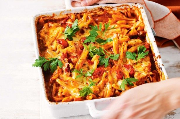 For the ultimate comfort food, try this cheesy one-dish pasta bake.