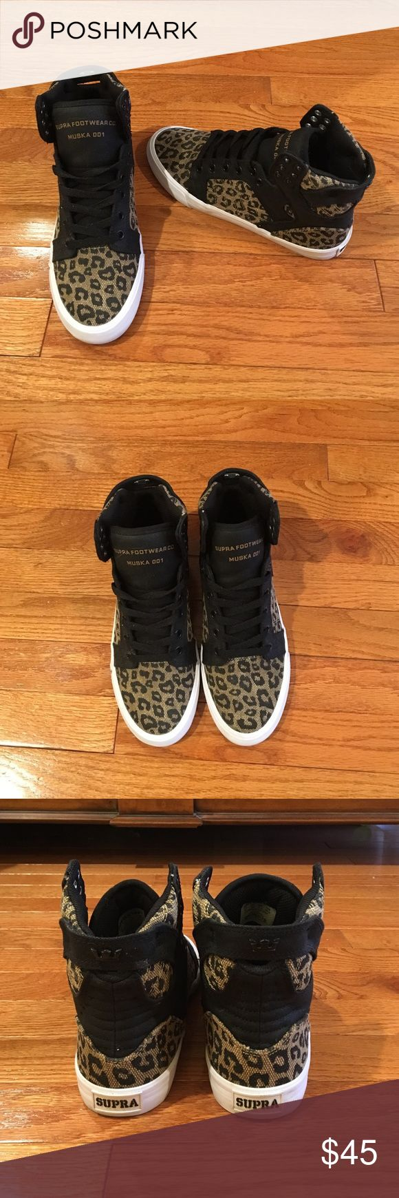 Supra Muska 001 Skytop Sneaker size 8 in Cheetah These limited edition Supra sneakers are in like-new condition. I've worn them around the house but have never worn them outside. Supra Shoes Sneakers