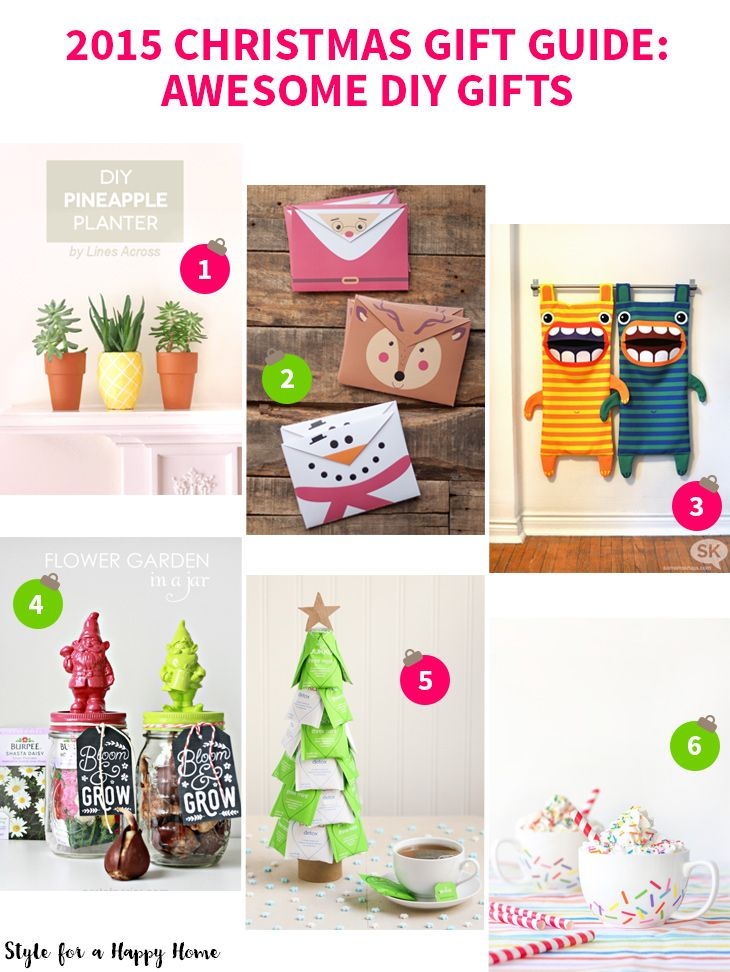 2015 Christmas Gift Guide Awesome Diy Gifts On Style For