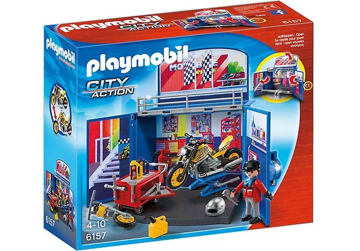 Zdjęcie w galerii: Playmobil 6157 Game Box - Warsztat motocyklowy 6157