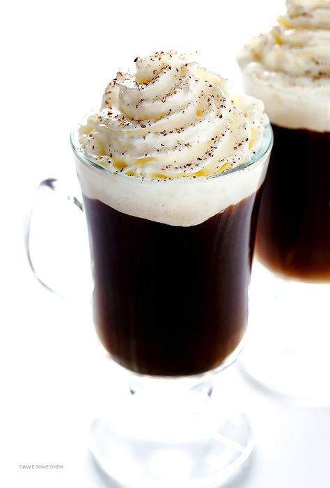 All you need are 3 easy ingredients to make a delicious cup of warm Irish Coffee. Step-by-step instructions are included! | http://gimmesomeoven.com