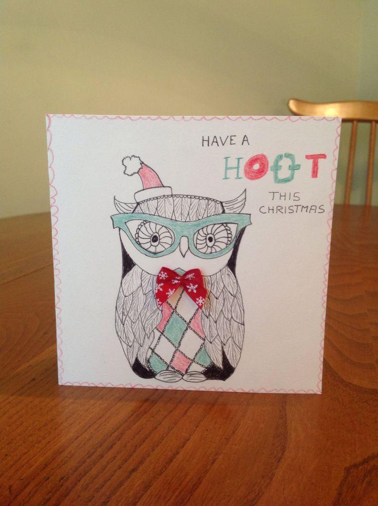 Jamie's owl Xmas card