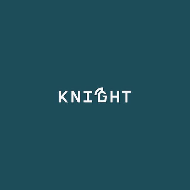 Clever Typographic Logos - Knight