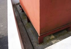 Oil and corrosive materials can affect the outer coating