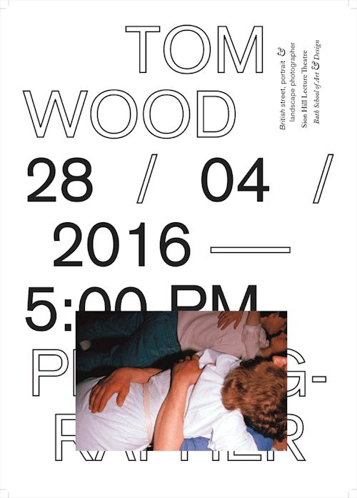 """gdbot: """"charlienewhouse: tom wood lecture series poster 28 / 04 /……"""