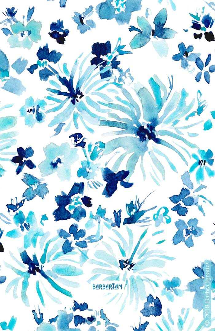 Free To Be Blue Floral Flower Phone Wallpaper Blue Flower