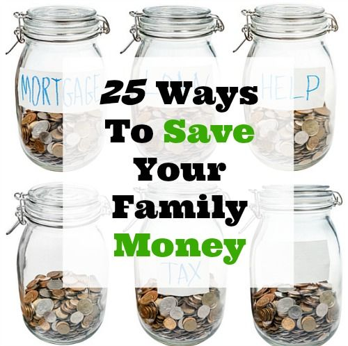 Most of us are always looking for ways to save our family money. I've compiled a list of 25 of the best ways you can save your family money from some of the top frugal living websites around!