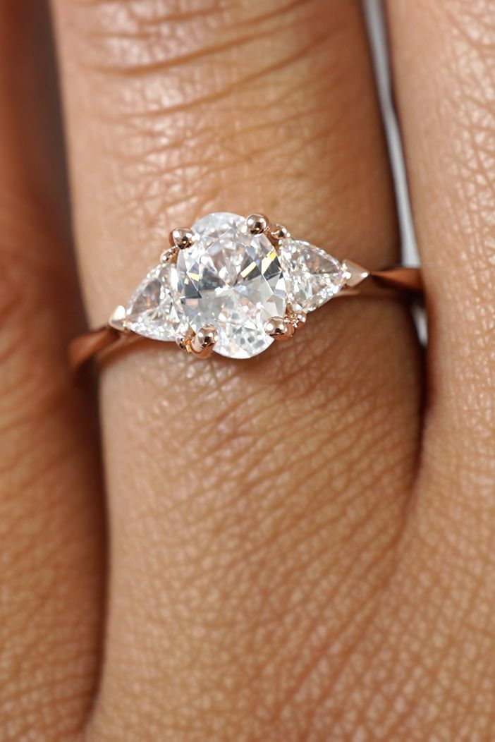 The Most Stunning Oval Engagement Rings Joseph Jewelry In 2020 Three Stone Engagement Rings Rose Engagement Ring Three Stone Engagement