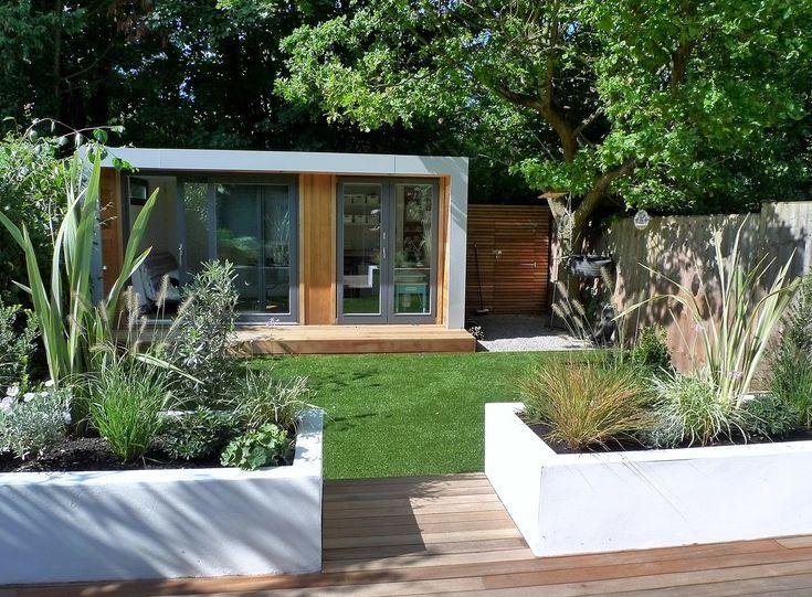 clapham and balham modern garden design decking planting artificial lawn grass hardwood privacy screen indoor outdoor space (10)