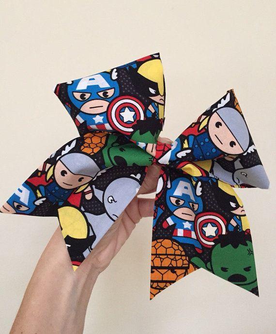 Mignon ! Marvel heroes grand bravo bow ! Support de queue de cheval attaché ! Livraison gratuite