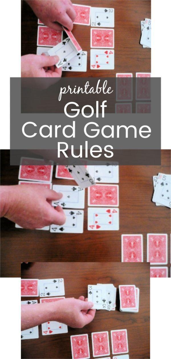Regras Do Jogo De Cartas De Golfe Com Impressao Family Card Games Card Games For Kids Golf Card Game