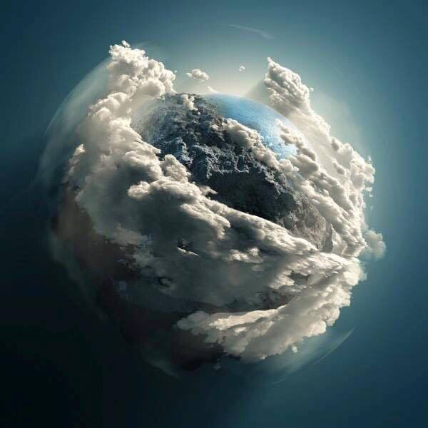 Earth as seen from the Hubble Telescope