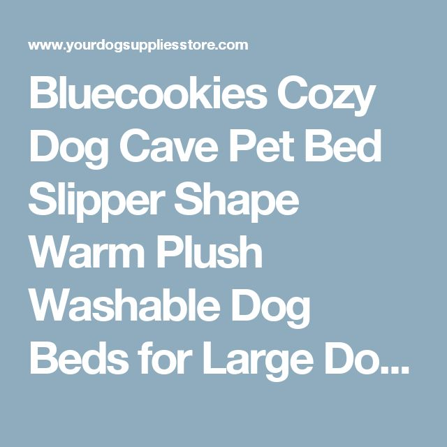Bluecookies Cozy Dog Cave Pet Bed Slipper Shape Warm Plush Washable Dog Beds for Large Dogs Cat Grey | Dog Supplies - Warning: Save up to 87% on Dog Supplies and Dog Accessories at Our Online Pet Supply Shop