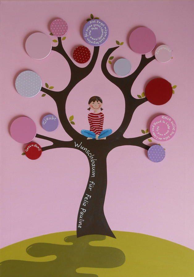 Fotoalbum & Gästebuch - Wunschbaum Rosalie - ein Designerstück von lisiLO bei DaWanda
