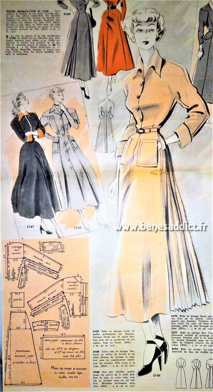 GRATUIT 22 superbes Patrons de Couture Vintage (robes, vestes, sacs...)