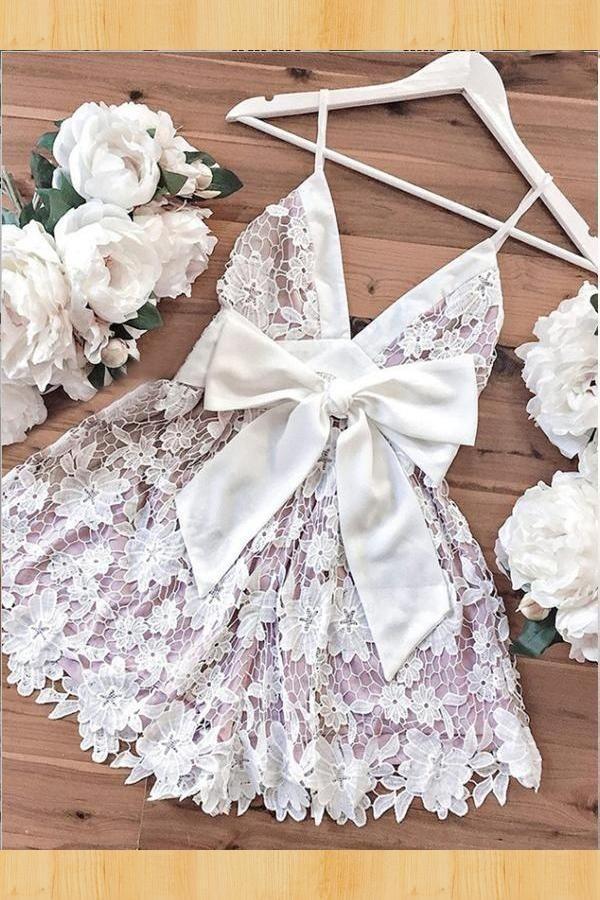 قميص نوم نهدي بارد Lace Homecoming Dresses Homecoming Dresses Dresses