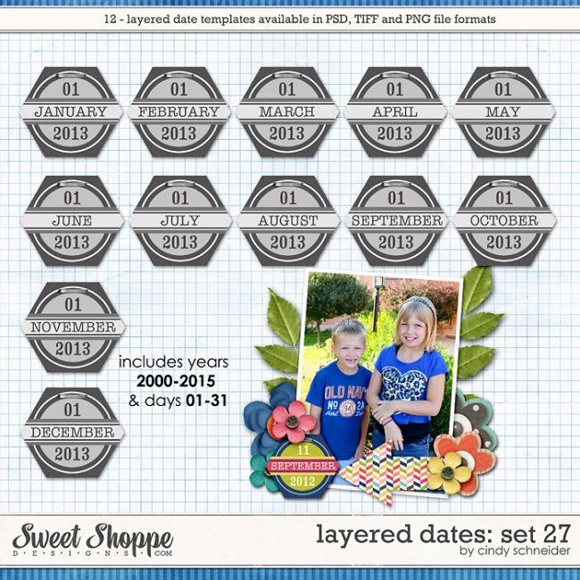Cindy's Layered Dates: Set 27 by Cindy Schneider