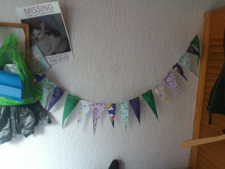 Don't like waste so mini bunting