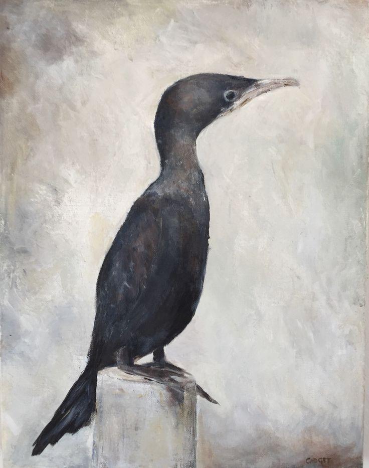 Cormorant .. Acrylic on canvas