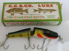 Creek Chub 2601 Jointed Pikie in Perch NEW OLD STOCK Glass Eye Wood Fishing Lure