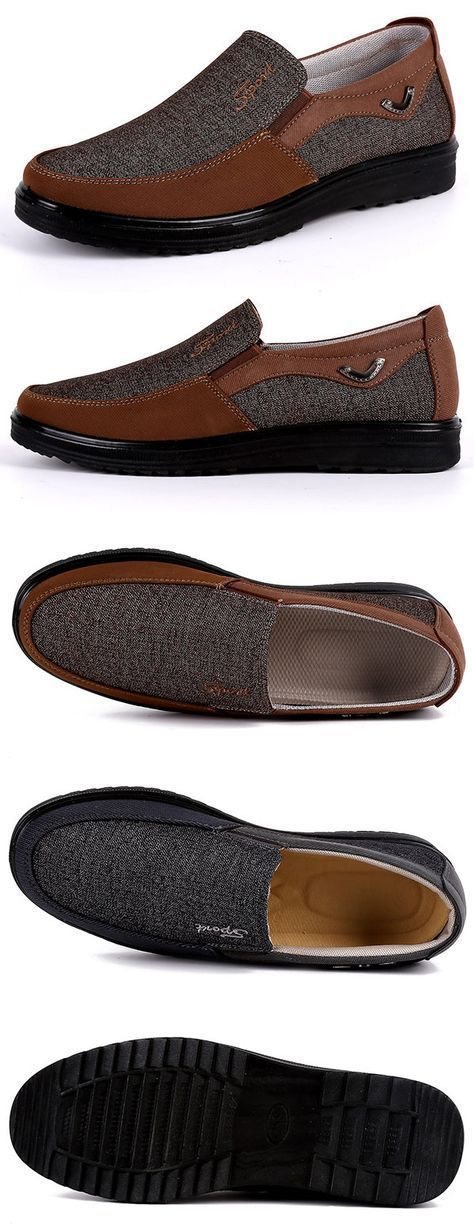 US28.52 Men Large Size Old Beijing Style Casual Cloth Shoes#shoes#Casual Cloth Shoes#work