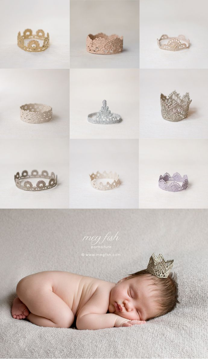 lace and paper mache crowns
