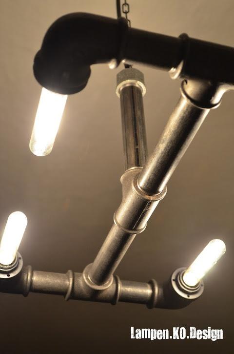 Designer Stahlrohrlampe von Lampen.KO.Design, mehr Infos unter http://lampen-ko-design.blogspot.de/