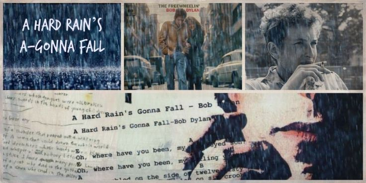 'Hard Rain's A-Gonna Fall'… I wrote the words of it on a piece of paper. But there was just no tune that really fit to it, so I just sort of play chords without a tune. If all this comes under the heading of a definition, then I don't care really to define what I do. Other people seem to have a hard time doing that. ~Bob Dylan (to Max Jones, May 64)